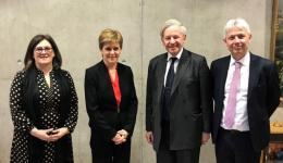 CBBC meets with Nicola Sturgeon in Edinburgh to discuss China-Scotland trade